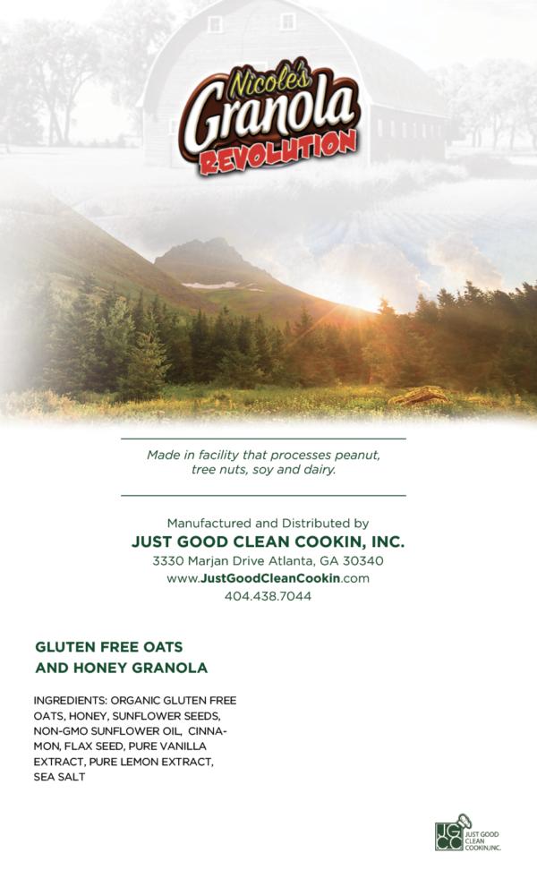 Gluten Free Organic Oats – Back